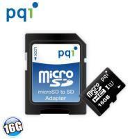 PQI microSDHC UHS-1 Class 10 16G 記憶卡 (附轉卡)