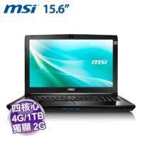 MSI CX62 6QD-258TW【i5-6300HQ/4G D4/1TB+128G SSD/GT-940MX 2G/FHD/DVD/W10】
