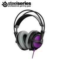 賽睿SteelSeries Siberia 200 西伯利亞 電競耳罩式耳機麥克風-紫 /伸縮式麥克風/輕量化適合長時間配戴