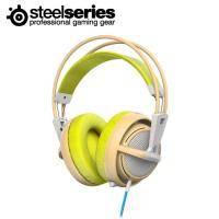 賽睿SteelSeries Siberia 200 西伯利亞 電競耳罩式耳機麥克風-綠 /伸縮式麥克風/輕量化適合長時間配戴