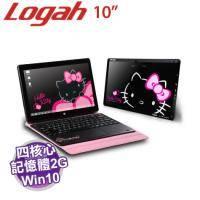 Hello Kitty Grace10 Light 2in1筆電 黑色【3735F/2G/32G/10吋/W10/內含皮套式鍵盤】【福利品出清】