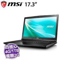 MSI CX72 6QD-091TW【i5-6300HQ/4G D4/1TB 7200轉/GT-940MX 2G/FHD/DVD/W10】