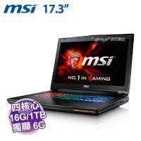 MSI GT72 6QD-881TW【i7-6700HQ/16G D4/1TB 72轉+256G PCIE/GTX-970M 6G/FHD/BD DVD/W10/全彩背光SS電競鍵盤】需客訂出貨
