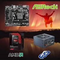 【高興價】A6-7400 3.5GHz+華擎 FM2A88M-HD+ R3+全漢 黑武士 350W