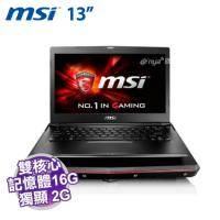MSI GS32 6QE-002TW【i7-6500U/16G D4/512G PCIE/GTX-950M 2G/FHD/W10/SS電競鍵盤】