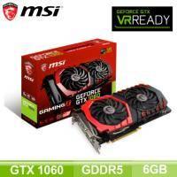 微星 GTX 1060 Gaming X 6G/Std:1569MHz,OC:1809MHz/註冊四年保(長27.7cm)