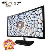 AOC C2783FQ 27吋LED顯示器【曲面 VA/HDMI、DP、HML/三年保固 】