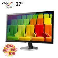 AOC I2778VHE6 27吋液晶顯示器 低藍光、不閃屏/D-sub/DVI/HDMI/三年保固