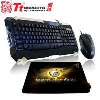 曜越軍令官全背光類機械式 電競鍵盤&滑鼠組+Razer Sphex Team Dignitas 電競鼠墊