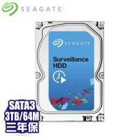 Seagate 3TB (ST3000VX006)[監控碟]64M/5900轉/三年保 讀寫頭3倍耐用