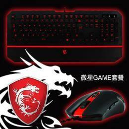 微星GAME套餐:DS100電競滑鼠+DS4100電競鍵盤