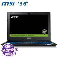 MSI WS60 6QI-297TW 行動工作站【i7-6700HQ/16G/1TB+128G PCIE/Quadro M1000M 2G/15.6吋】+MSI原廠個性後背包及滑鼠