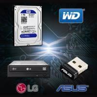 【高興價】 WD 藍標 1TB硬碟(WD10EZEX)+HLDS 24X DVD燒錄器+華碩 USB-N10 nano 無線網路卡(省148)