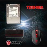 【高興價】TOSHIBA 1TB(DT01ACA100) + 微星 MSI DS100 玩家級電競滑鼠+ 微星 MSI DS4100 攔截者電競鍵盤