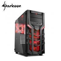 旋剛 DG7000-G red 聖龍者 鋼化玻璃版(紅)/ATX/U3*2/U2*2/內建前紅光14Fan*2/後14紅光Fan*1