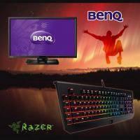 【高興價】BenQ 27.0吋 BL2710PT IPS 2K液晶顯示器+Razer雷蛇 2014 Blackwidow Chroma 黑寡婦蜘蛛幻彩終極版機械式鍵盤(綠軸中文)(省5000)