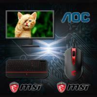 【高興價】AOC E2280SWN/21.5 吋/1920x1080/2千萬:1/5ms/D-SUB/保固3年+微星 MSI DS100 玩家級電競滑鼠/多組可自定義按鍵/3500DPI + 微星 M..