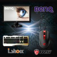 【高興價】BENQ LCD GW2455H 液晶顯示器【24吋(23.6吋)LED/不閃屏 低藍光/黑色/HDMI/三年保固一年無亮點】 + i.shock霹靂神手懸浮式遊戲鍵盤 06-KB168 +..