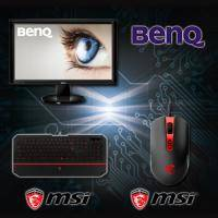 【高興價】BENQ LCD GW2455H 液晶顯示器【24吋(23.6吋)LED/不閃屏 低藍光/黑色/HDMI/三年保固一年無亮點】 + 微星 MSI DS100 玩家級電競滑鼠/多組可自定義按鍵..