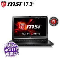 MSI GL72 6QE-861TW【i7-6700HQ/4G D4/1TB 72轉/GTX-950M 2G/FHD/DVD/W10/SS電競鍵盤】