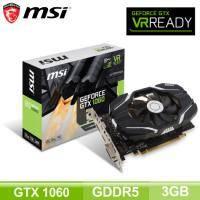 微星 GeForce GTX 1060 3G OCV1/四年保固