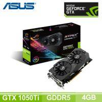 華碩 ROG STRIX-GTX 1050TI-O4G-GAMING/Std:1379MHz,OC:1506MHz/Aura Sync RGB/註冊五年保(長24.1cm)