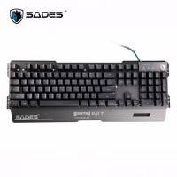 SADES賽德斯 Blademail 狼刃甲 RGB 鋼化電競鍵盤-黑 /類紅軸手感/懸浮鍵帽/RGB背光 -發票登錄兩年保