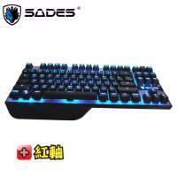 SADES Karambit 狼爪刀 機械式鍵盤/英刻/紅軸/87KEY/附注音鍵帽