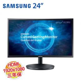 SAMSUNG C24FG70FQE 24型電競曲面顯示器 /VA/HDMI、DP、Headphone/三年保固