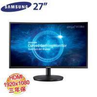 SAMSUNG 27型 C27FG70FQE 電競曲面顯示器 /VA/HDMI、DP、Headphone/三年保固
