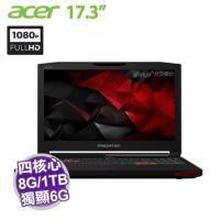 acer G9-793-717M 電競機【i7-6700HQ/8G D4/1TB+256G SSD/GTX-1060 6G/17.3吋 FHD/W10】