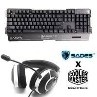 SADES 狼刃甲 RGB 104KEY鍵盤 中文注音版 送 CM Storm Ceres 300 谷神星電競耳麥/耳罩式