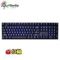 DUCKY DK2108SZ 108鍵機械式鍵盤/有線/雷雕/紅軸/藍光/新版/中文限量-賣完為止