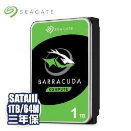 Seagate 1TB(ST1000DM010-3Y/P)/7200轉/SATA3/64M/三年保固
