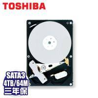TOSHIBA Sonance 4TB NAS硬碟(MD03ACA400V) /SATA3/7200轉/64MB快取/三年保固內非人損直接換新