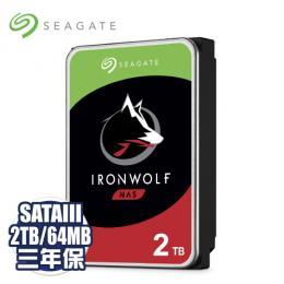 Seagate 2TB/(ST2000VN004)【NAS碟(那嘶狼)】/5900轉/64MB/三年全保