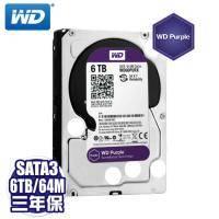 WD 紫標 6TB(WD60PURX)監控硬碟/IntelliPower/64MB/三年保固