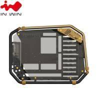 迎廣 IN-WIN D-Frame 2.0 全塔式機殼內建白金牌1065W電源供應器(金色)/E-ATX/Type-C (特殊客訂商品 不適用七天鑑賞期)