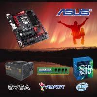 【高興價】Core i5-6400+華碩 B150 PRO GAMING AURA+威剛 DDR4-8GB+EVGA 500W 80PLUS 銅牌