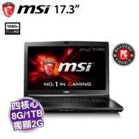 MSI GL72 7RD-076TW【i7-7700HQ/8G D4/1TB 72轉+128G M.2/GTX-1050 2G/17.3吋 FHD/DVD/W10/SS電競鍵盤】