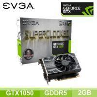 EVGA GTX 1050 2G GAMING/單風扇/Std:1354MHz,OC:1455MHz/五年保(長14.5cm)