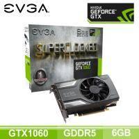 EVGA GTX1060 6GB SC GAMING/單風扇/Std:1607MHz,OC:1835MHz/五年保(長17.3cm)