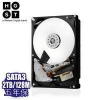 HGST 2TB 企業級硬碟 SATA3/7200轉/128MB快取/五年保