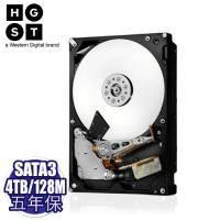 HGST 4TB 企業級硬碟 SATA3/7200轉/128MB快取/五年保