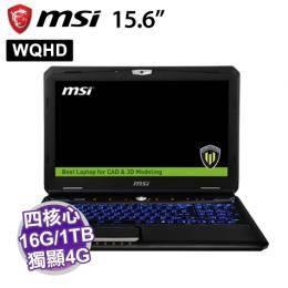 MSI WT60 2OK-1291TW 【i7-4810MQ/16G(8GB*2)/1TB 7200 轉 +256GB*2 SSD/DVD/Quadro K3100M 4GB/W7P/3Y/2K WQ..