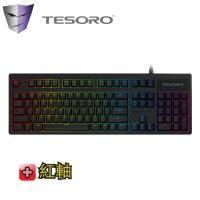 TESORO鐵修羅 克力搏劍 Excalibur (G7SFL V2) 機械式鍵盤-黑 /紅軸中文/RGB背光/二色鍵帽