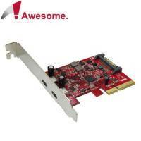 Awesome PCIe x4 2埠Type C USB 3.1 10Gbps擴充卡 - AWD-UB-135