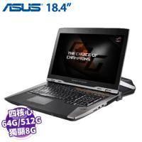 ASUS GX800VH(KBL)-0041A7820HK【i7-7820HK/16GX4 D4OC/512G PCIE X 3/GTX-1080 8G SLI/18.4吋 UHD/W10】ROG S..