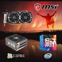 【高興價】Core i7-7700+微星 RX470 ARMOR 8G OC+XFX 訊景 XTR 650W全模金牌