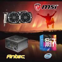 【高興價】Core i7-7700+微星 RX470 ARMOR 8G OC+ANTEC NEO ECO II 550W 銅牌